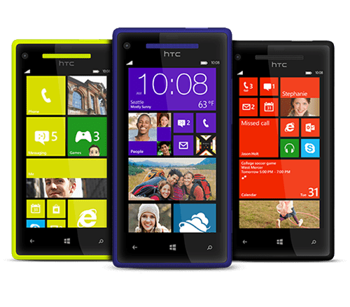 8X Windows Phone by HTC (pricing not yet available)