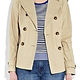 Waxed cotton canvas to protect you from unexpected Summer showers.  Vince Short Waxed Trench Coat ($198, originally $395)