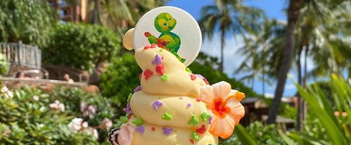 Disney's Aulani Has a Turtled-Themed Pineapple Ice Cream!
