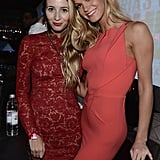 Harley Viera-Newton and Erin Heatherton posed for photos at the Victoria's Secret Fashion Show after party in NYC.