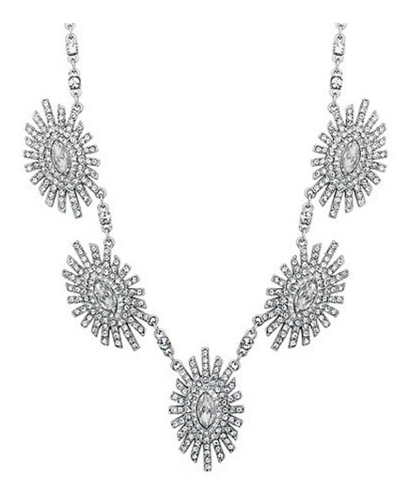 Jealous of red carpet bling? Skip a couple of takeaways and treat yourself to this Jenny Packham Starburst Necklace (£35). Who needs diamonds?