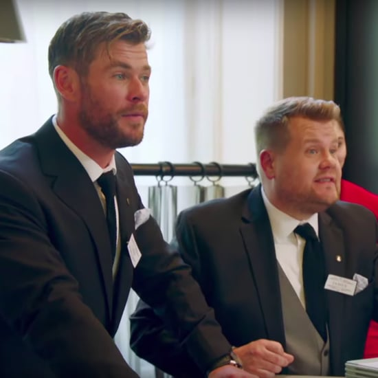 James Corden and Chris Hemsworth Battle of the Waiters Video