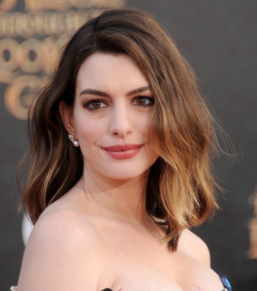 Anne Hathaway Lob: Anne Hathaway Best Beauty Looks
