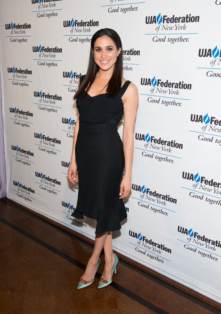 In June 2015, Meghan Markle wore a simple black dress to the UJA-Federation New York's Entertainment Division Signature Gala.