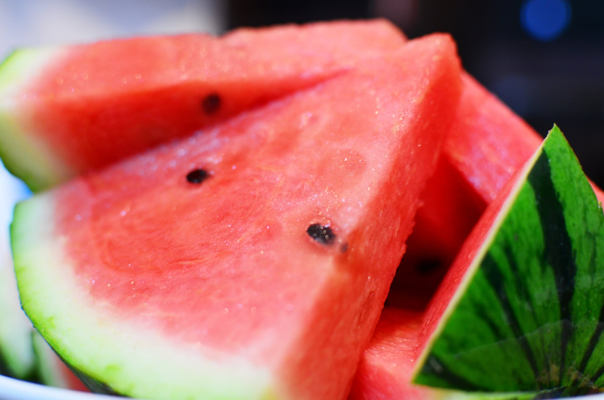 Close up of watermelon slices.