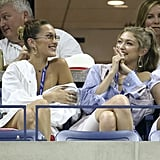Gigi and Bella Hadid at US Open in Button-Downs 2018
