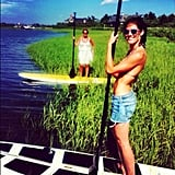 Hilary Rhoda went paddleboarding with her mom. Source: Instagram user hilaryrhoda