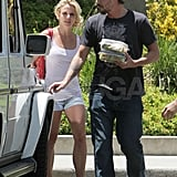 Jason gave Brit a helping hand with lunch while in LA in June 2010.