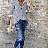 Milumia Button-Front Blouse