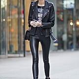 Kate Grigorieva wearing a Chanel bag.