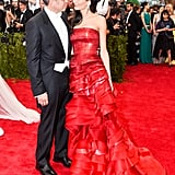 She wore a strapless Maison Margiela gown by John Galliano at the 2015 Met Gala.
