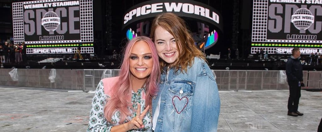 Emma Stone Meets the Spice Girls at Wembley Stadium