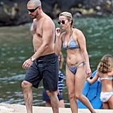 Reese Witherspoon and Jim Toth showed off their beach bodies during an Aug. 2011 trip to Kauai with Ava and Deacon.