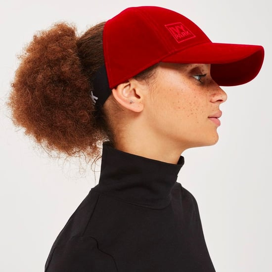 Ivy Park Velvet Backless Cap