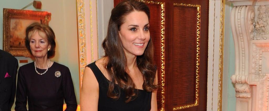 Duchess Cambridge Black Preen Dress at Place2Be Awards 2016