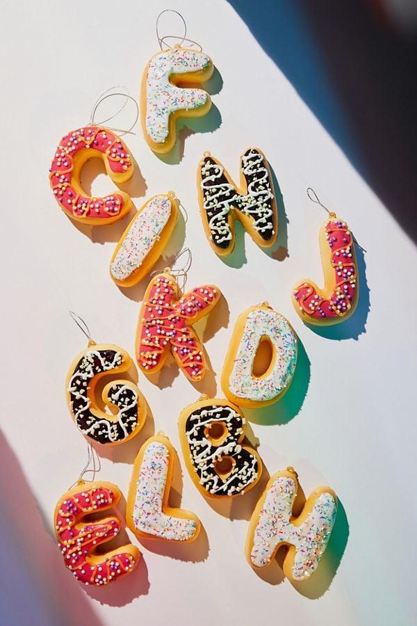 Donut Letter Christmas Ornament