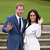"""Harry on their romantic-comedy-worthy meeting: """"This beautiful woman just literally tripped and fell into my life.""""  Harry on how he wooed Meghan: """"We had two dates in London last July, and it was I think about three, maybe four weeks later that I managed to persuade her to come and join me in Botswana, and we camped out with each other under the stars.""""  Harry on why he doesn't see their short courtship as an issue: """"The fact that I fell in love with Meghan so incredibly quickly is confirmation to me that all the stars are aligned."""""""