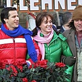 In December 2011, Matt Damon had fun with Katy Perry and Andy Samberg while filming an episode of SNL in NYC.