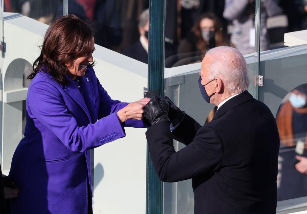 Kamala Harris and Joe Biden Fist-Bumping