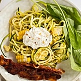 Courgette Spaghetti With Rocket and Corn