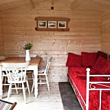 Guesthouse sheds are cozy by design.