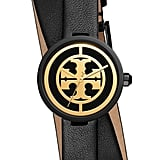 Tory Burch Reva Double Wrap Leather Strap Watch