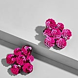 BaubleBar Floral Sequin Stud Earrings