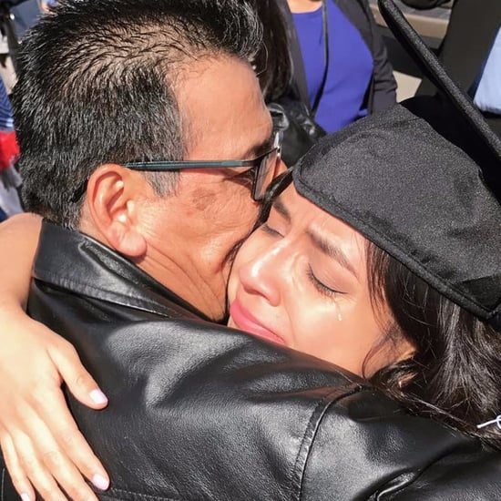 Picture of Indiana University Graduate Crying With Her Dad