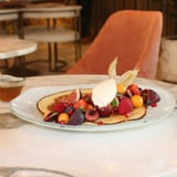 Ricotta Hotcake, Lime & Honey Drizzle, Vanilla Mascarpone
