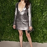 In November 2015, Meghan rocked one of her favourite designers, Misha Nonoo's piece for the The 12th Annual CFDA/Vogue Fashion Fund Awards. The metallic dress was paired with a box clutch and simple black heels.