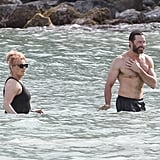 Hugh Jackman Shirtless in St. Barts For His 20th Anniversary