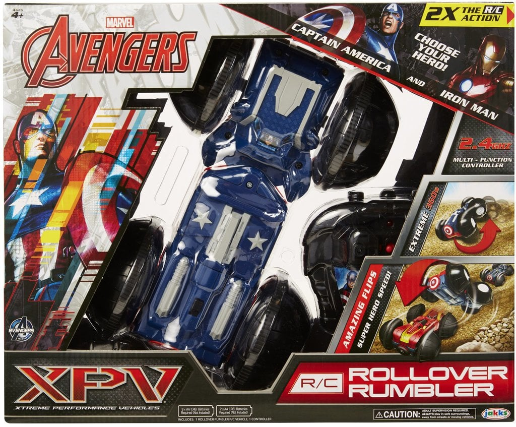 For 6-Year-Olds: Marvel XPV Remote Control Rollover Rumbler