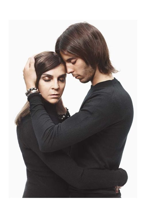 Carine Roitfeld and Vladimir Restoin-Roitfeld for Barneys New York