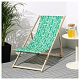 Pull it out for max relaxing, then fold it up and hang it on the wall when you need to make space for the washing. MYSINGSÖ Beach Chair ($39.99)