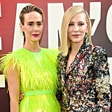 Pictured: Sarah Paulson and Cate Blanchett
