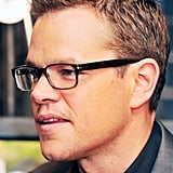 Matt Damon wore his glasses.