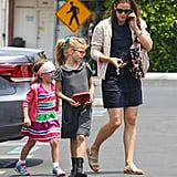 Jennifer Garner, Violet, and Seraphina visited a museum on Saturday.