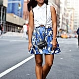 A Button-Down, Miniskirt, and Sneakers