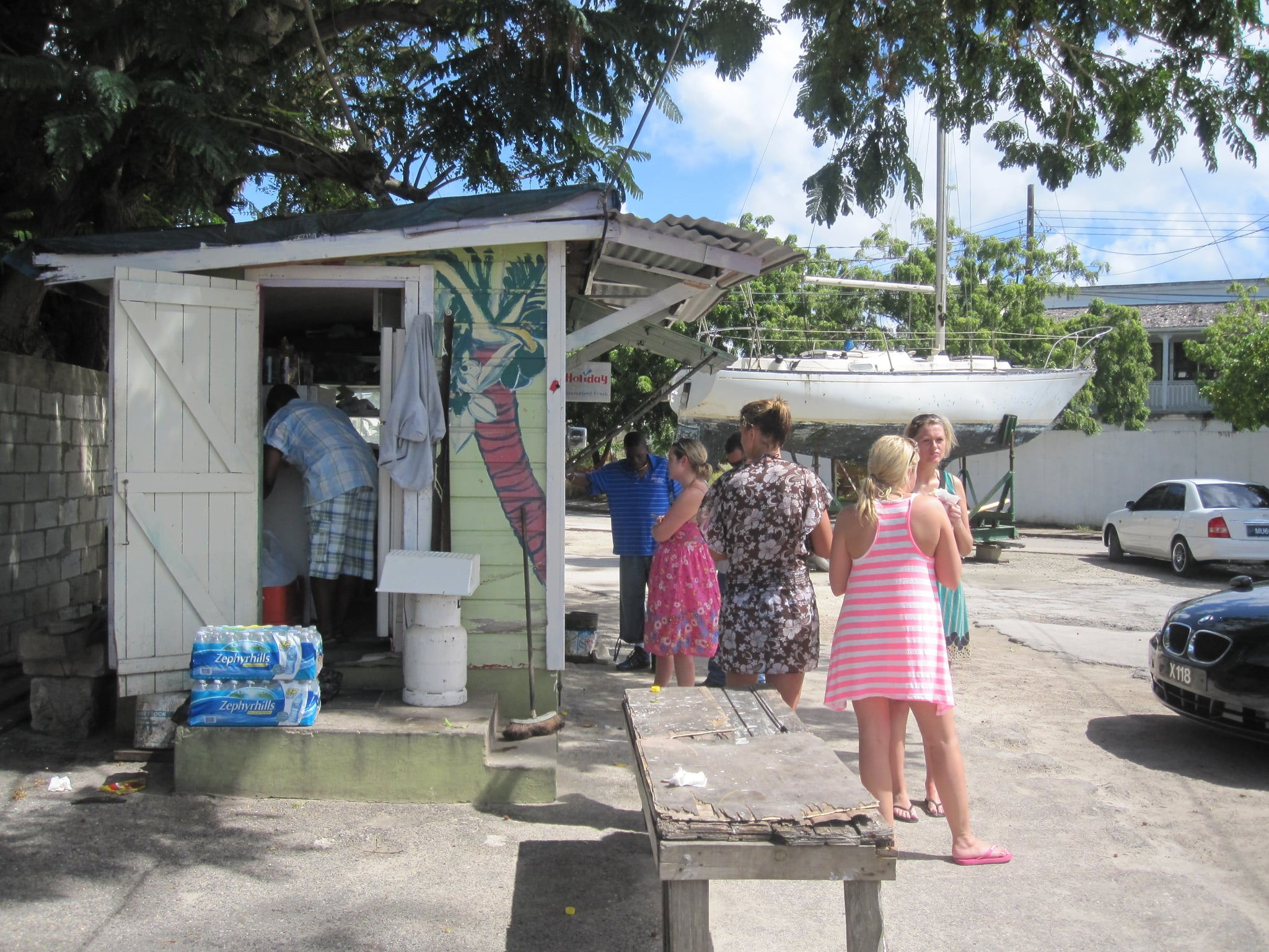 The best thing I ate was a fried fish sandwich from this small seaside shack, Coz. The sandwiches are renowned across the island of Barbados, and both locals and tourists flock to the stand for a quick and affordable bite.