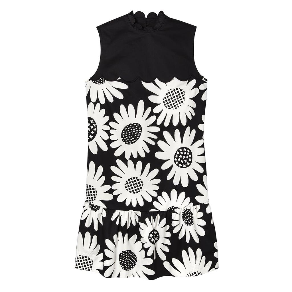 Black Daisy Drop Waist Scallop Trim Dress ($40)