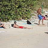 Olivia Palermo and boyfriend, Johannes Huebl, relaxed while in St. Barts on vacation.