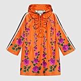 Gucci Hooded Rose Garden Jersey Dress