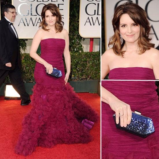 Tina Fey at Golden Globes 2012