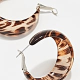 Kenneth Jay Lane Animal Print Hoop Earrings