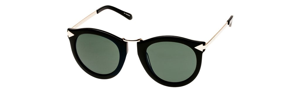 Karen Walker Harvest Black Sunglasses, $295