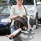 Alyson Hannigan took her daughter, Keeva Denisof, for a car ride in Santa Monica, CA, on Monday.