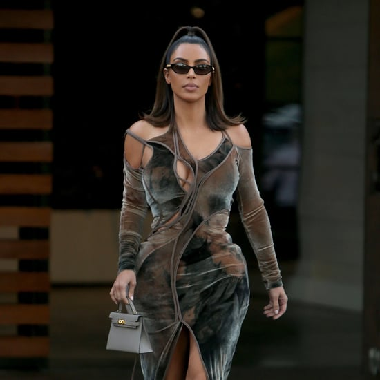 Kim Kardashian's Velvet Cutout Dress Instagram 2019