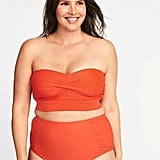 Old Navy Twist-Front Long-Line Swim Top