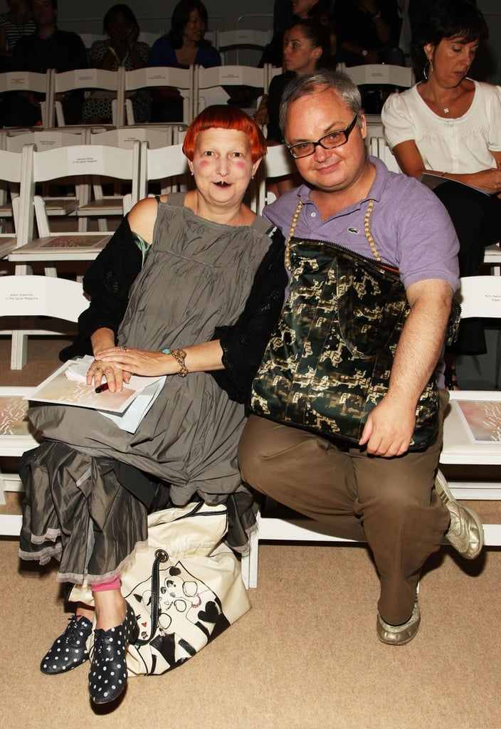 Front Row At Erin Fetherston Spring 09 With Editor of Paper Magazine Mickey Boardman