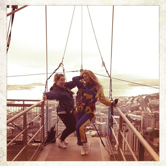 Watch Video Of Beyonce Knowles Bungee Jumping In New Zealand